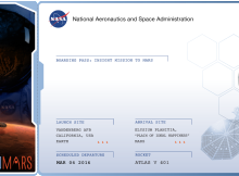 NASA Mars Mission boarding-pass-with frequent flying miles-km