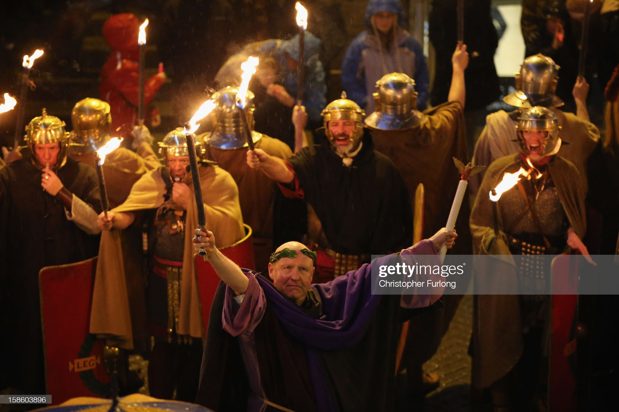 A Saturnalia celebration in England in 2012. CHRISTOPHER FURLONG/GETTY IMAGES