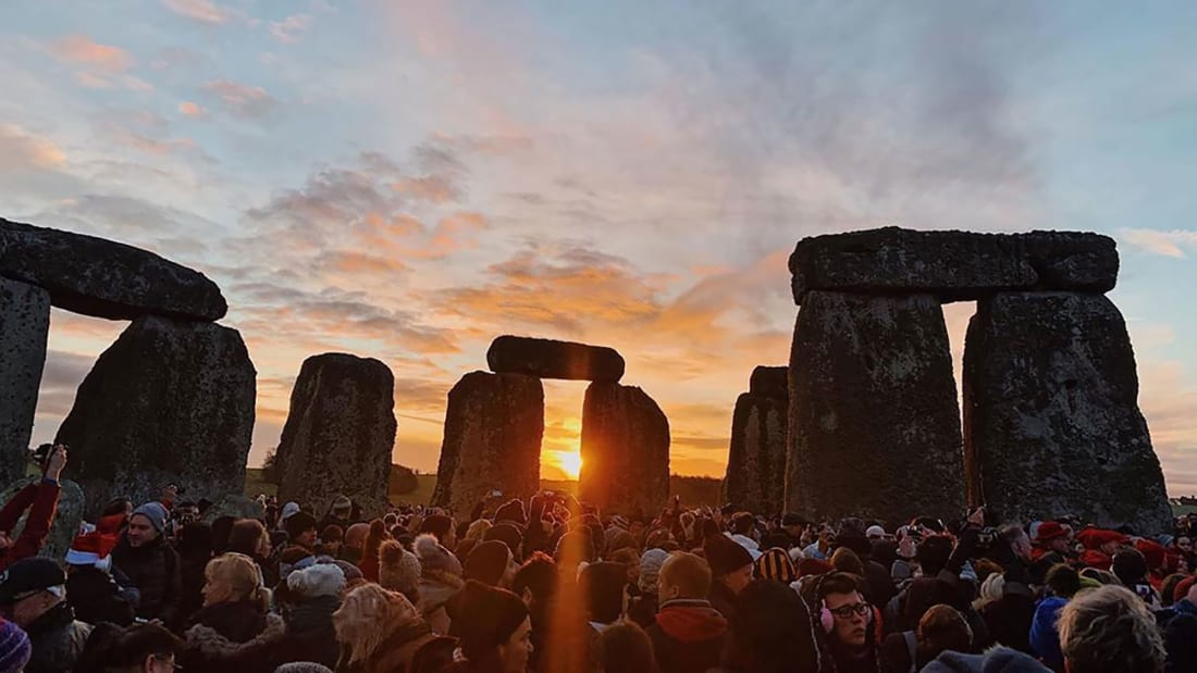 People gathered to celebrate Winter Solstice on Dec 2019